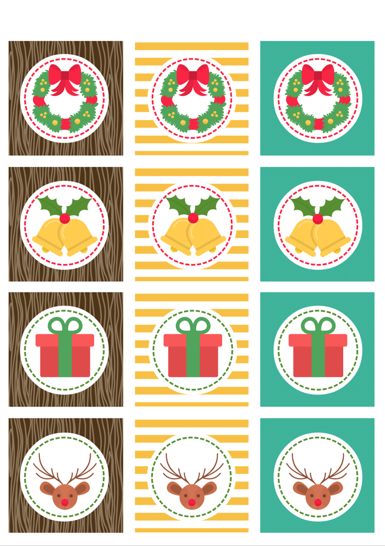 Christmas cupcake toppers 2