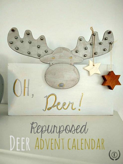 Repurposed Deer Advent Calendar