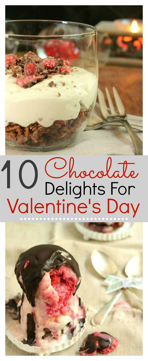 10 easy homemade chocolate delight recipes that are perfect for Valentine's day. Food is the way to  man's heart and these recipes will totally hit the spot.  These delicious desserts will met his heart #Valentine #Chocolatedelight #Dessert #Chocolate #Love