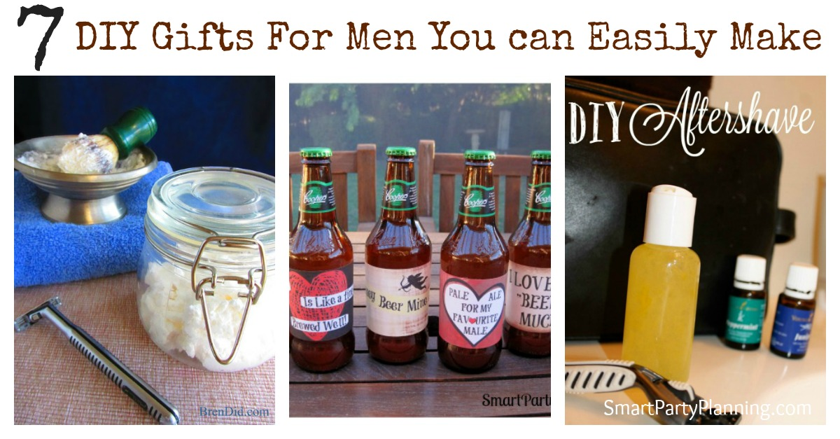 "Need some gift ideas for the man in your life this Valentine's day? Shopping for gifts doesn't have to be expensive, and this collection of DIY gifts for men is perfect to show your man how much you really care. Say ""I Love You"" in a unique and special way this year."