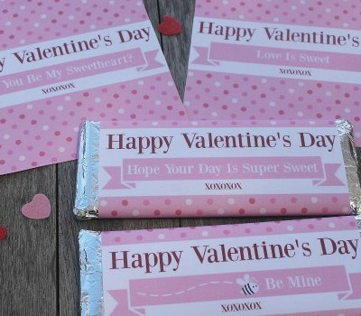 Hershey Bar Wrappers For Valentine's Day
