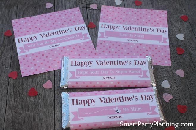 Printable Hershey Bar Wrappers for Valentine's Day