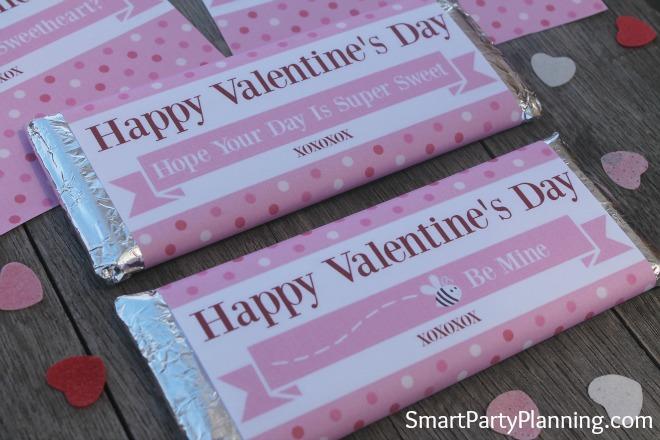 Valentine Printable Hershey Bar Wrapper