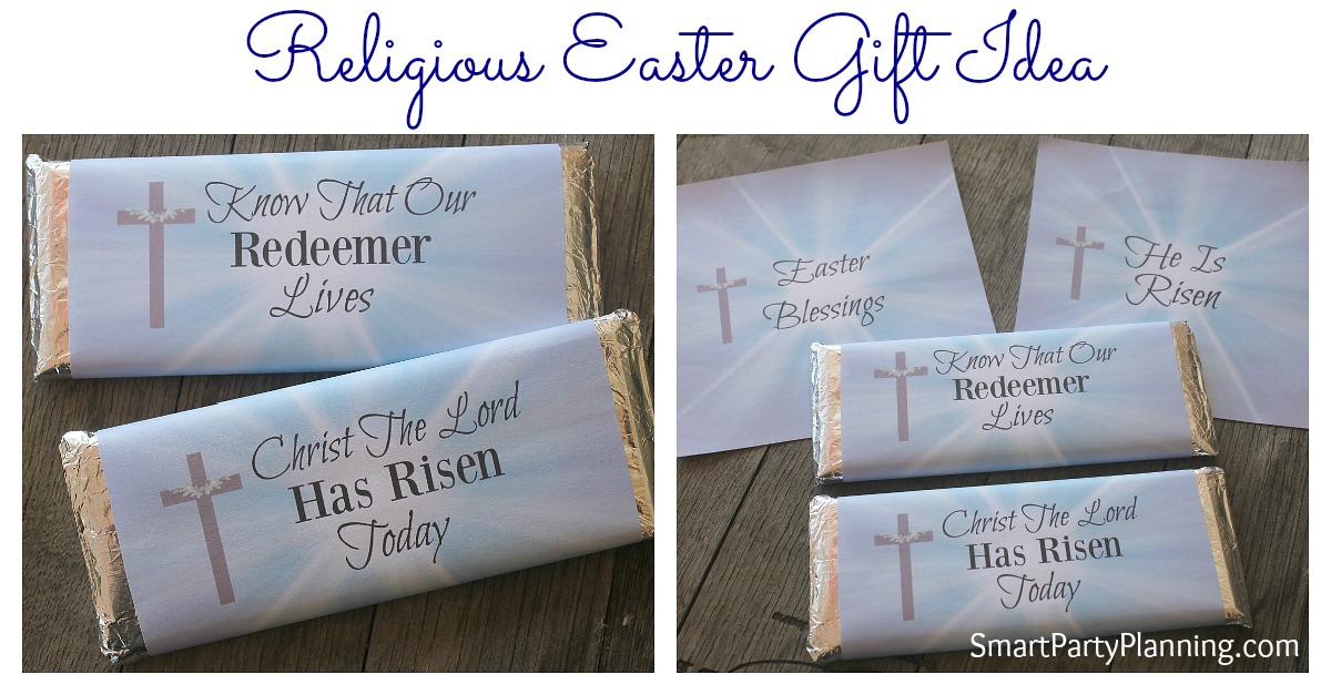 Religious easter gift idea diy crafts are perfect as an easter gift idea try these gorgeous hershey bar printable negle Images