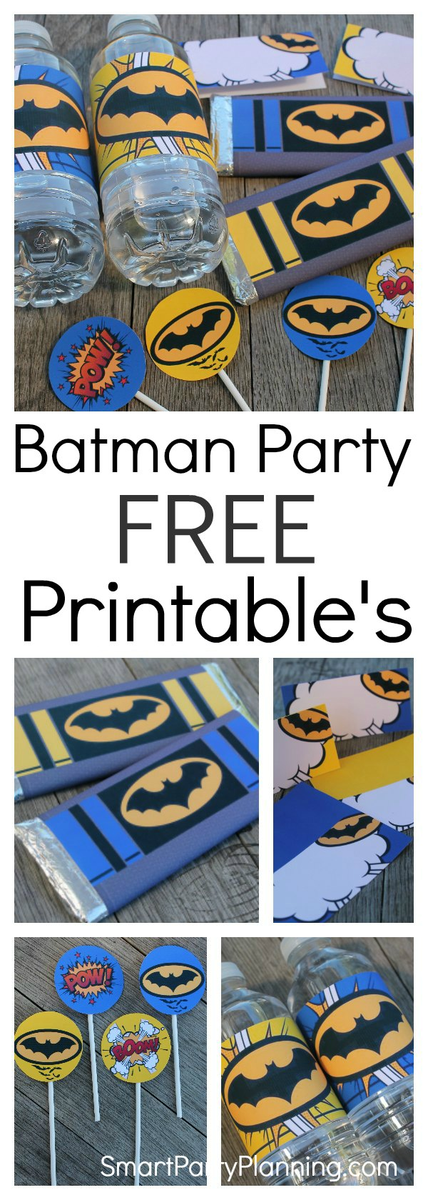 photo relating to Batman Cupcake Toppers Printable named Cost-free Batman Printables your minimal Superheroes will appreciate