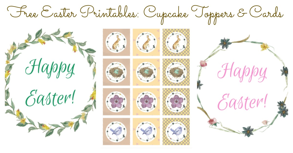 Printables are great to use for party decoration, and can really help you organize those last little detail. These free Easter printables are great to use as cupcake toppers or cards, and the shabby chic style is one you will love. If your kids enjoy crafts, get them to help complete your Easter decorating using these free printables.