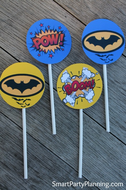 graphic regarding Batman Cupcake Toppers Printable named No cost Batman Printables your small Superheroes will delight in