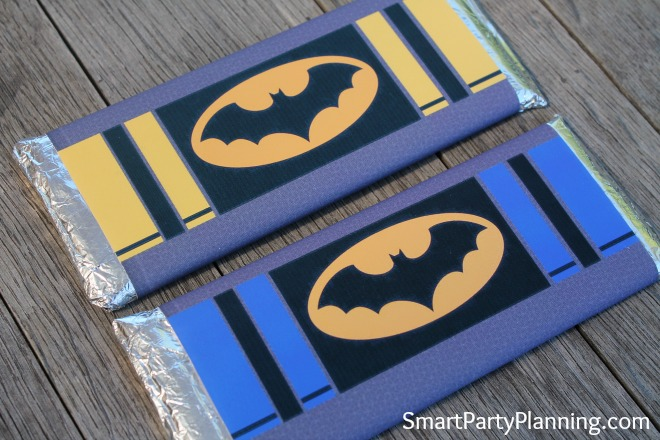Batman hershey bar labels