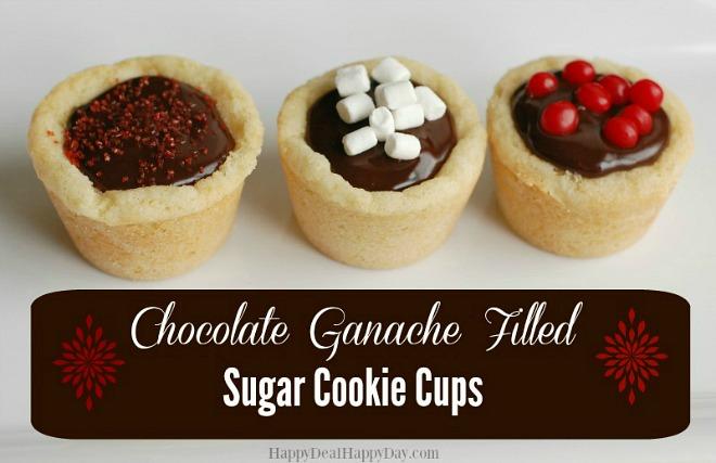Chocolate ganache cups
