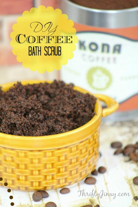 DIY Coffee bath scrub