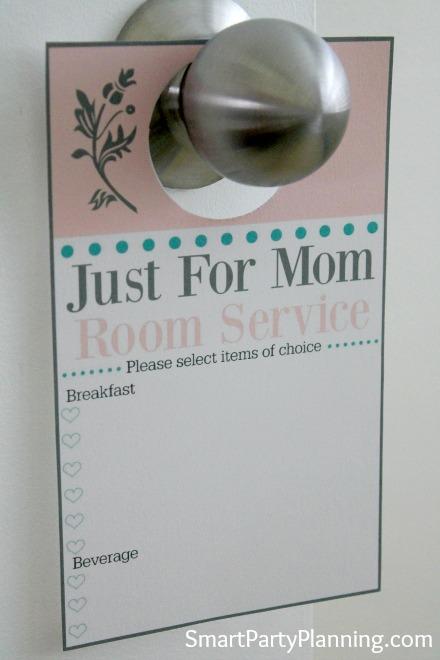 Mother's day door hanger on the door knob