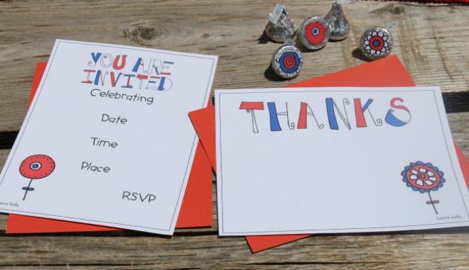 Patriotic invitations