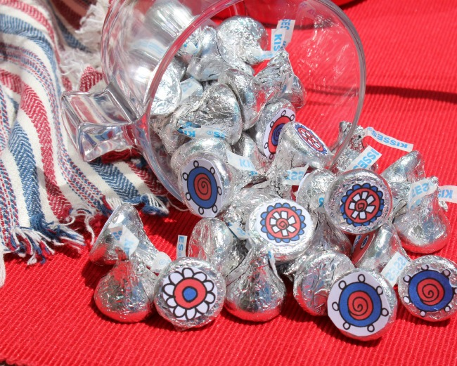 4th July printable Hershey kisses
