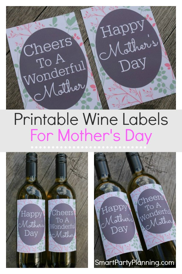 Printable wine labels for mothers day