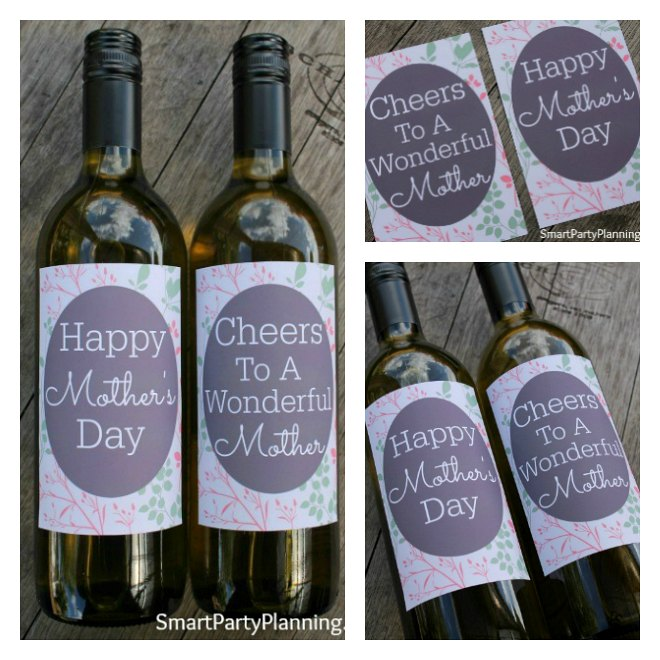 Printable wine labels perfect for mothers day