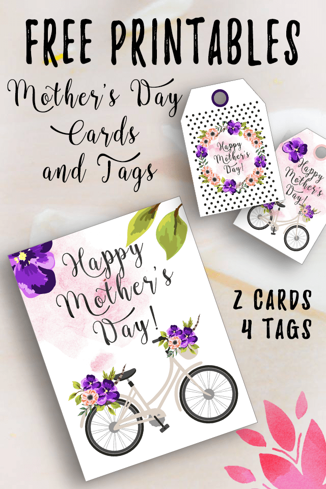photo relating to Free Printable Mothers Day Tags named Totally free Printable Moms Working day Playing cards