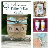 A great gift idea for Father's day would be something that the kids have made for themselves. This selection of nine awesome Father's day crafts for kids will provide plenty of inspiration and there is something for everyone regardless of age. The kids will have fun preparing these homemade gifts and dad will be super impressed with the results.