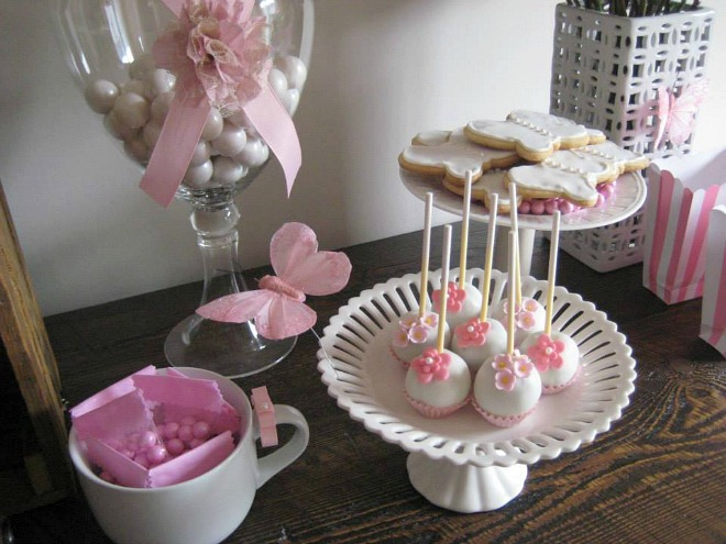Butterfly party desserts