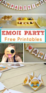 Easy Emoji Party with Free Printables