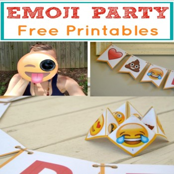 This emoji party package is perfect for your next celebration! Use our FREE printables and throw a low-cost emoji party!