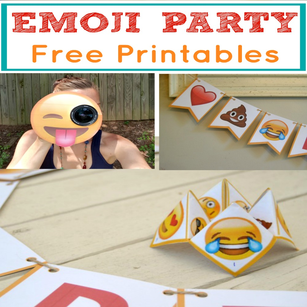 Easy Popular Emoji Party Package With Free Printables