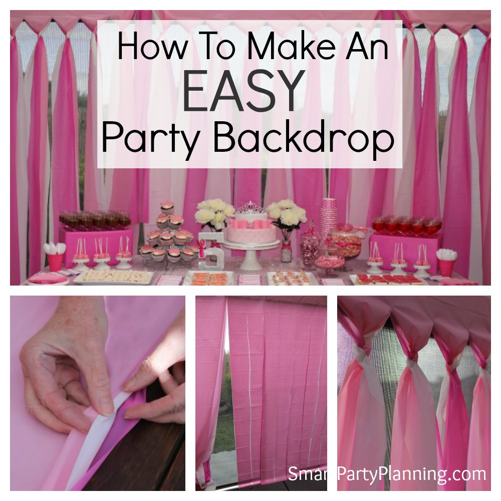 How to make an easy party backdrop