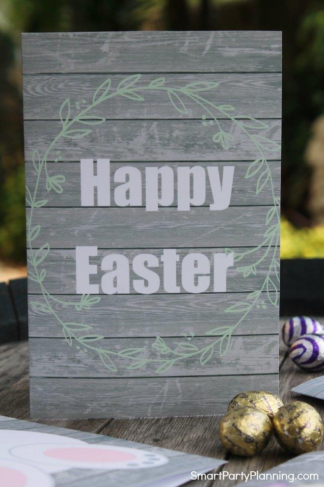 Happy Easter Wreath Card