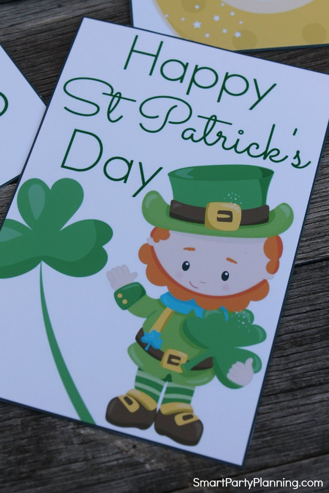 Happy St Patrick's Day Lunch Box Note