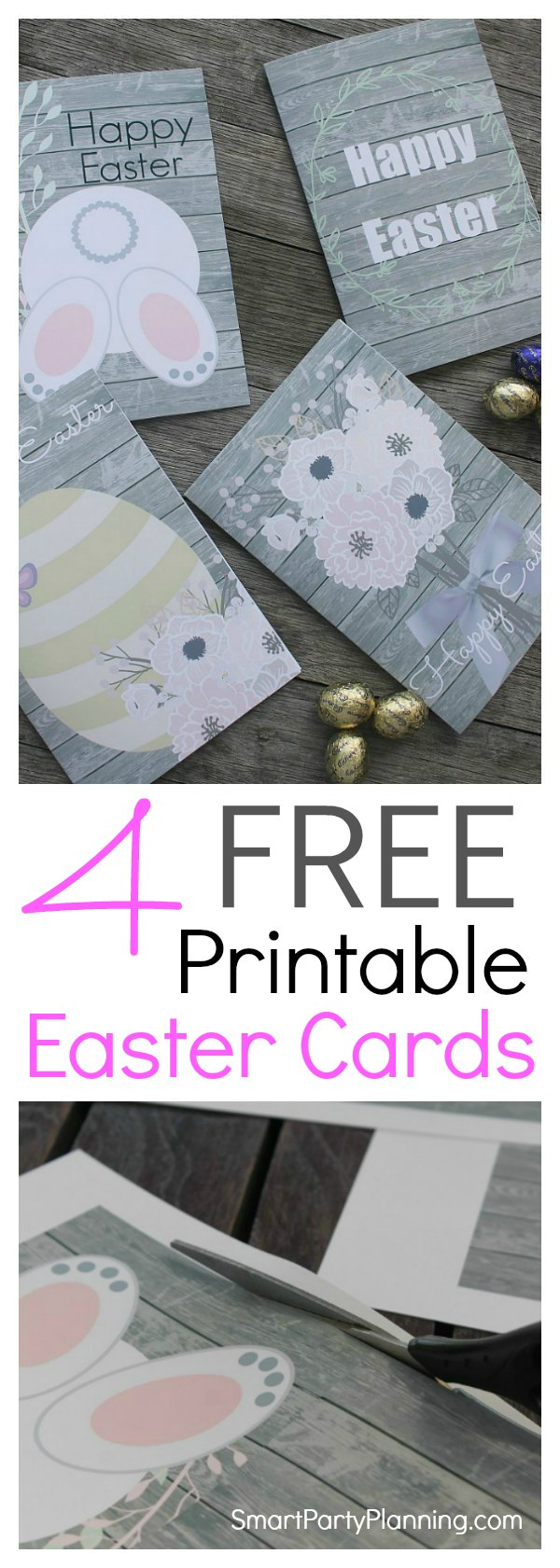 DIY printable Easter cards. Send a beautiful Easter card to someone you love this year and print it for free. With 4 super cute designs to choose from, the cards will be sure to delight. Simply print, cut fold and send. It couldn't be easier.