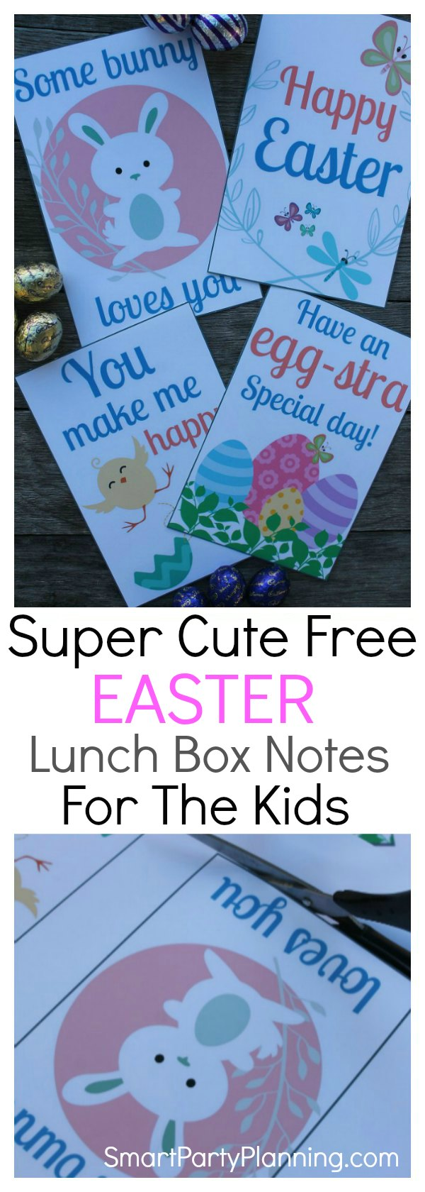 Super cute free Easter lunch box notes