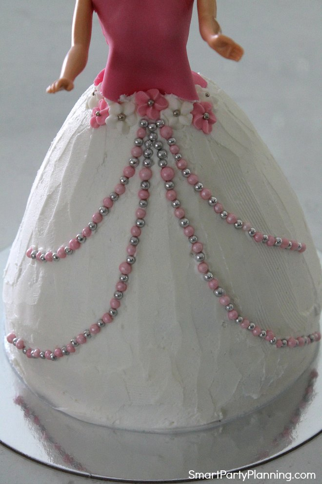 Add bead decoration to the front of the dress
