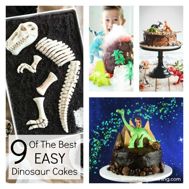 9 Easy dinosaur cakes