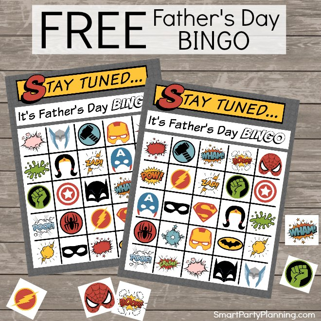 Fathers Day Bingo Printable