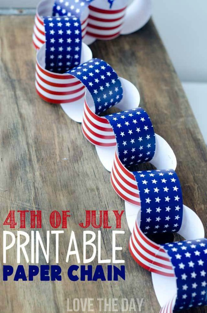 Patriotic Paper Chains