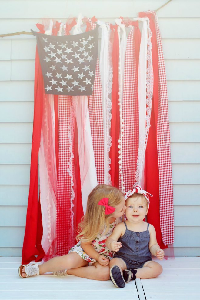 DIY Fourth July Flag