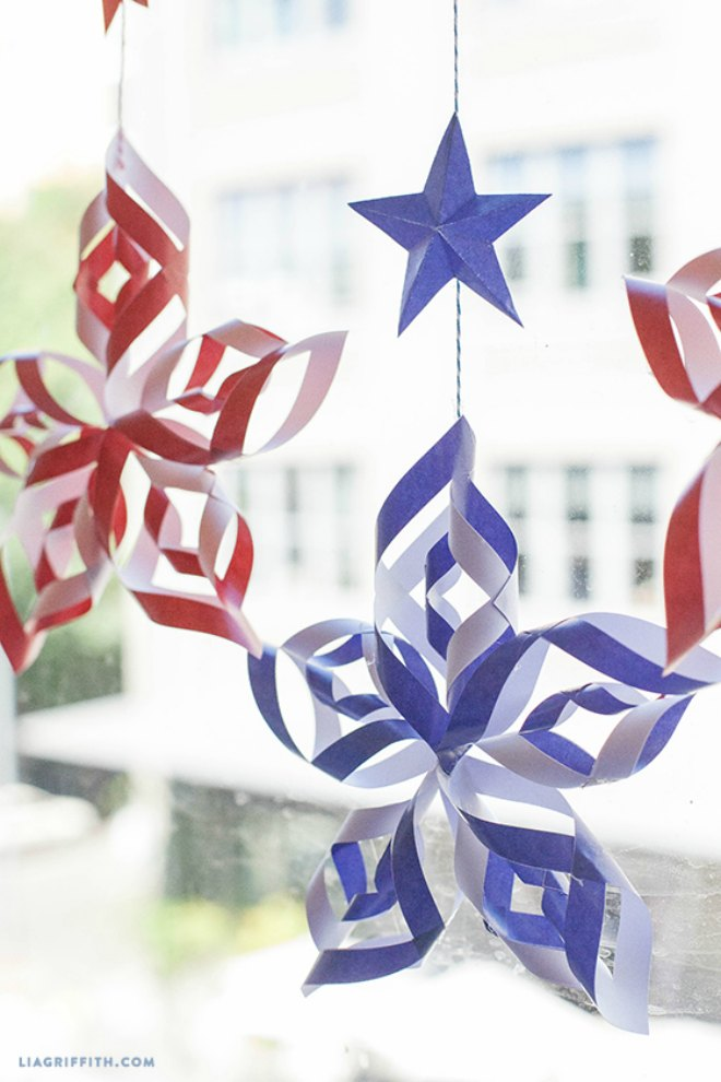 4th July Paper Star Decorations