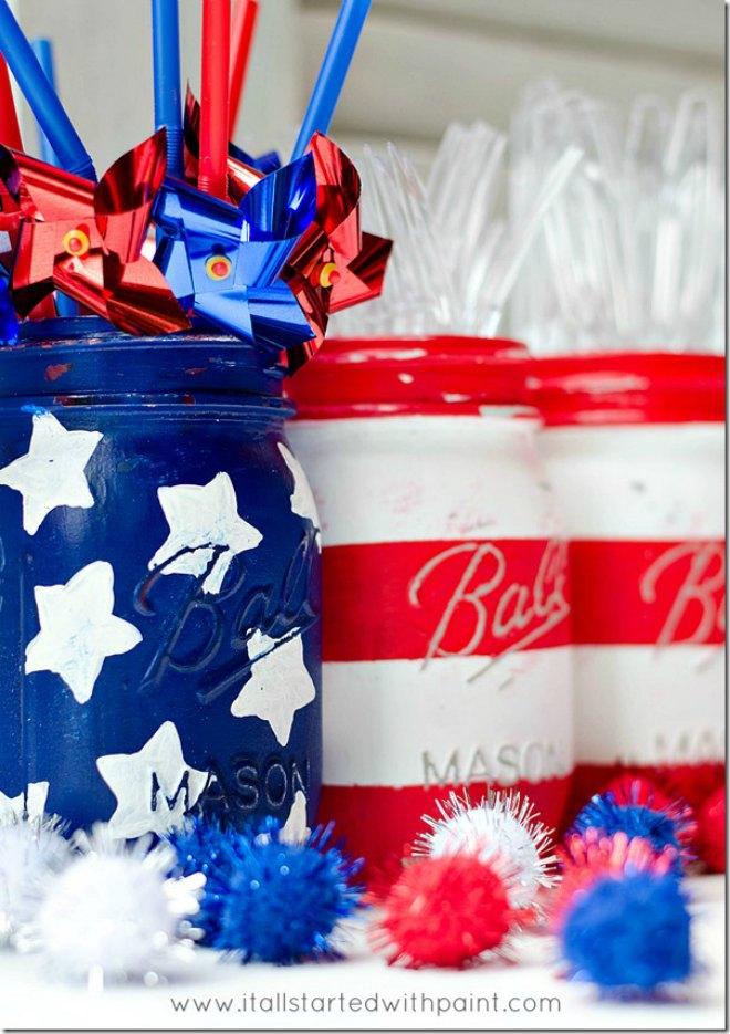Patriotic Mason Jars