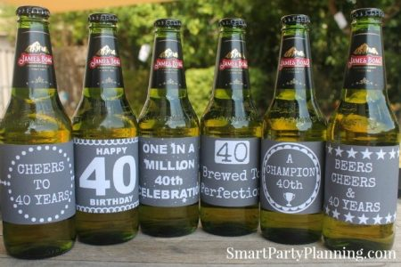 40th Birthday Beer Printables