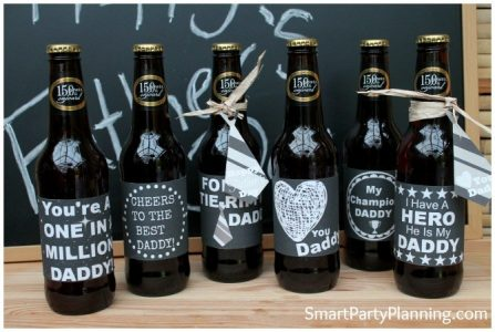 Fathers Day Chalkboard Labels