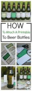 How to attach a printable to a beer bottle