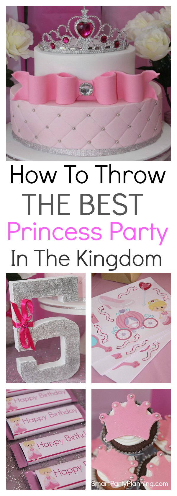 A stunning Princess birthday party for girls, that they are bound to love. Includes DIY ideas on a budget for decorations, food and fun activities. You will soon have the best Princess party in the kingdom. #Princessbirthdayparty #Forgirls #Onabudget #Fun
