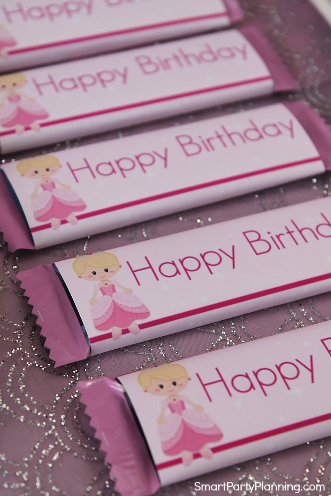 Princess Printable Candy Wrappers