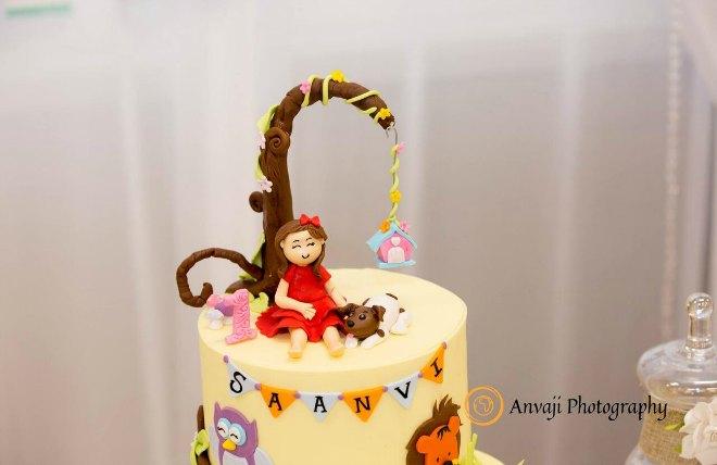 Top of birthday cake