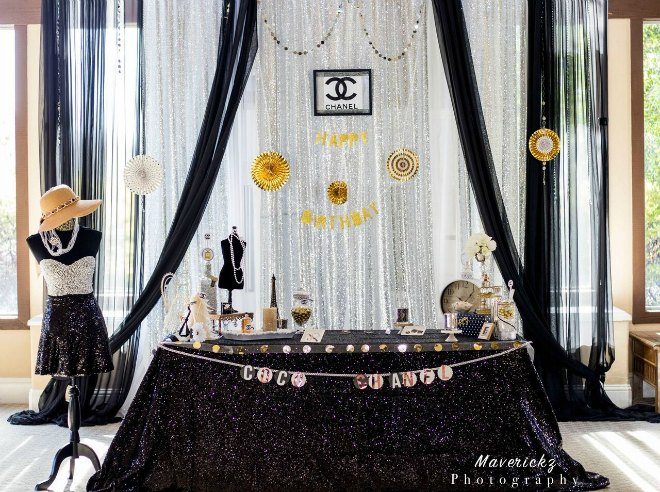 Chanel party display