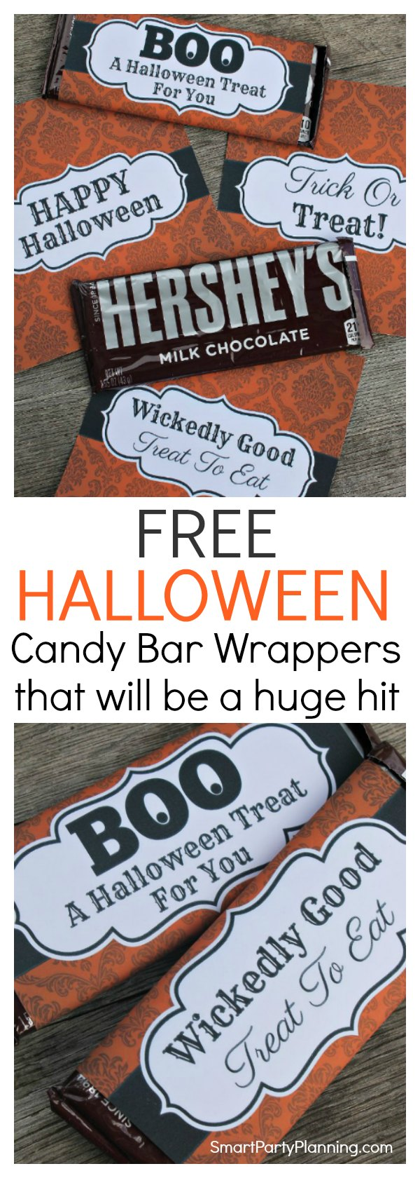 Grab your Halloween candy bar wrappers that are to be a sure hit with the young and old.  Use as party favors, trick or treaters treats, Halloween gifts or simple to enjoy yourself.  There are four fun designs that you can download instantly for free.  This is the perfect solution to fill up those Halloween treat bags!