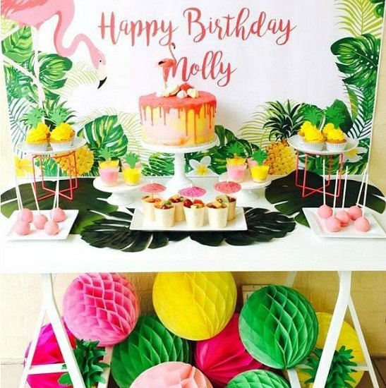 Pink Tropical Flamingo Birthday Party