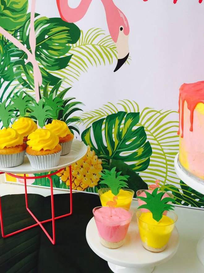 Yellow and pink desserts