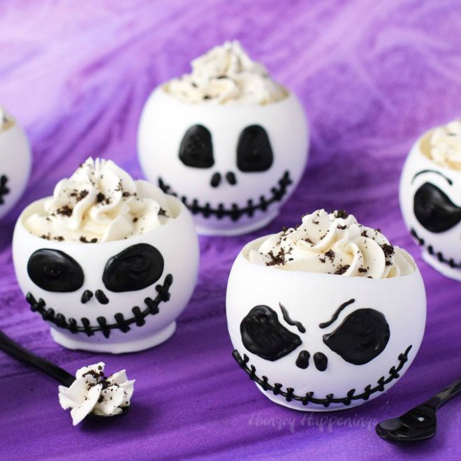 Jack Skellington Chocolate Bowls