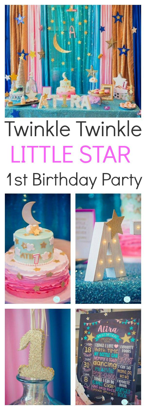 twinkle twinkle little star birthday party