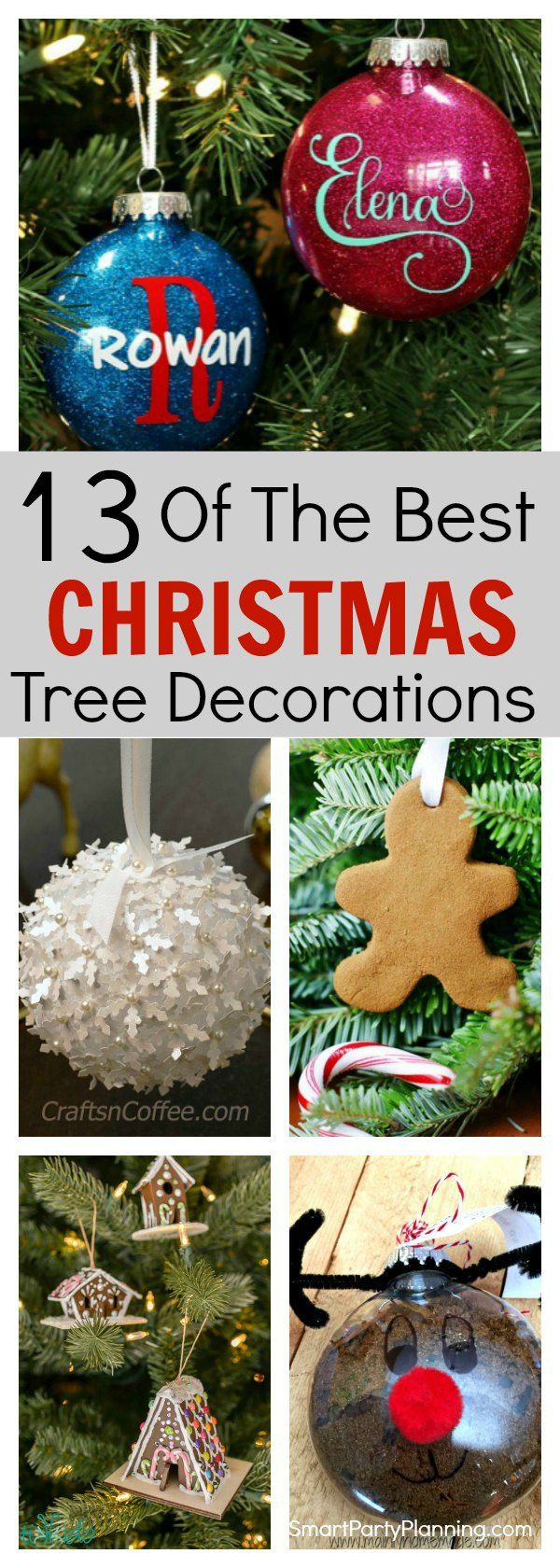 """13 of the best Christmas Tree Decorations"""" width='""""600""""' height='""""1680""""' data-pin-description=""""Why not try your hand at a bit of DIY and create your own Christmas tree decorations this year. This selection is all easy and fun to make, they and are great for kids to get involved in. They will make a fantastic holiday activity which you can enjoy year after year. With different themes to try, there is something that everyone will love."""